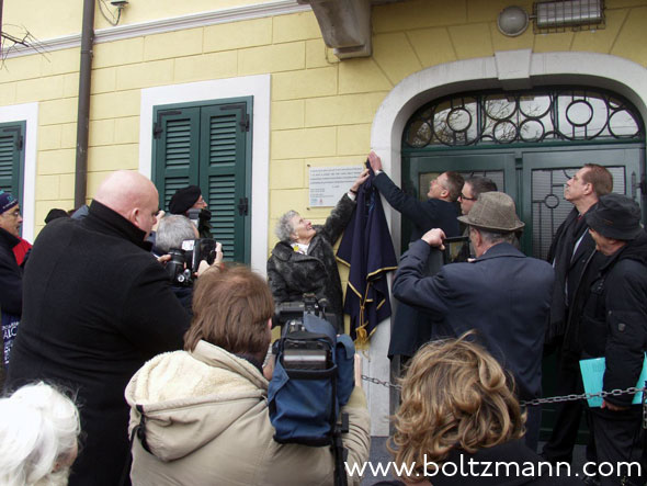 Unveiling of a commemorative plate in memory of Ludwig Boltzmann