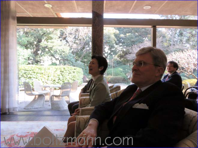 Her Imperial Highness, Princess Takamado and the Ambassador of Austria, Dr. Bernhard Zimburg