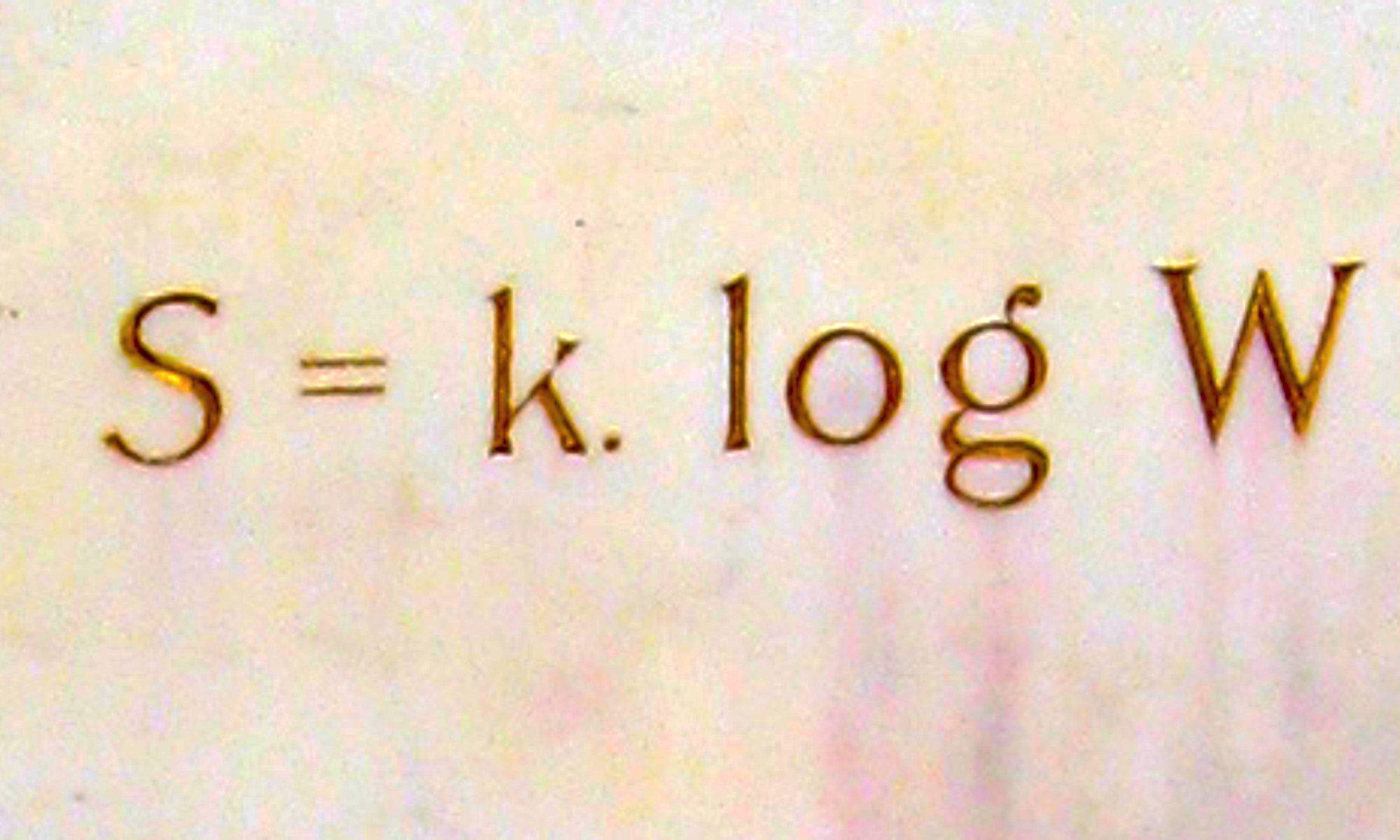 Ludwig Boltzmann S=k log W