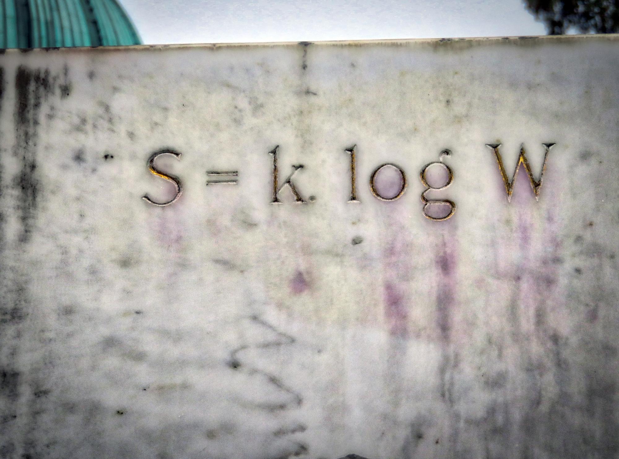 S=k log W ルドウィグ ボルツマン